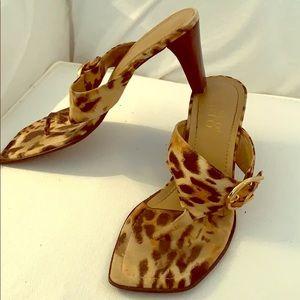 Leopard Franco Sarto sandals